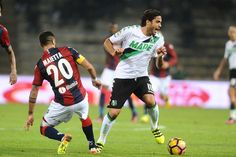 Alessandro Matri # 10 of US Sassuolo in action during the Serie A match between Bologna FC and US Sassuolo at Stadio Renato Dall'Ara on October 23, 2016 in Bologna, Italy.