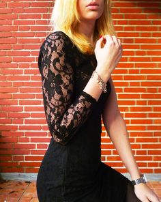 My favorite black one shoulde lace dress. So feminine and sexy - i love it for clubbing!