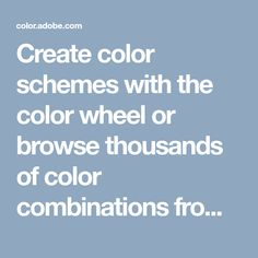 Adobe Color CC - Create color schemes with the color wheel or browse thousands of color combinations from the Color community. Retro Color Palette, Create Color Palette, Colour Schemes, Color Trends, Color Combinations, Web Design Tools, Tool Design, Menu Design, Design Ideas
