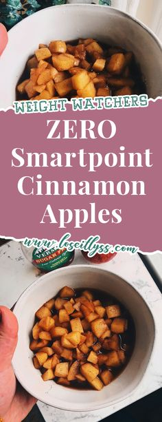 Weight Watchers Cinnamon Apples Dessert – ZERO SmartPoints Breakfast, snack or dessert. These cinnamon apples are inspired by Boston Market's and are gooey, sweet and only 0 Weight Watchers WW Freestyle Smartpoints. Grab the recipe here! Weight Watcher Desserts, Weight Watchers Snacks, Weight Watchers Apple Recipes, Weight Watcher Muffins, Plats Weight Watchers, Weight Watchers Breakfast, Ww Recipes, Healthy Recipes, Cooking Recipes