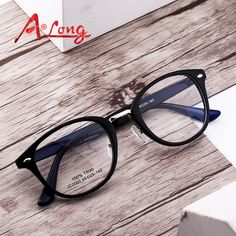 517933b6e5 A Long Eye Glasses Frames for Women Fashion Optical Round Eyeglasses Men  Eyewear Accessories Clear Vintage