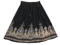 Bohemian Skirts Gypsy Bellydance Floral Sequin Beaded Black Hippy Skirt Mogul Interior,http://www.amazon.com/dp/B00BPP4X3Y/ref=cm_sw_r_pi_dp_-g0trbC40CF842B2