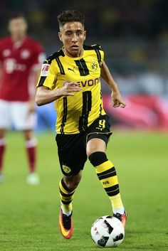 Emre Mor in action during a match between Borussia Dortmund and FC Bayern Munich on August 14, 2016...