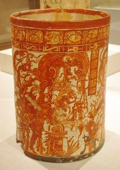 Vessel of the Dancing Lords, Ah Maxam (active mid-late 8th century), ceramic and pigment, 750/800 CE, Late Classic Maya; vicinity of Naranjo..,PETEN,GUATEMALA