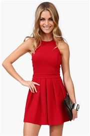 Goody Two Shoes Dress in Burgundy