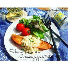 とんちゃんさんのお料理#爽やか #レモン #ペッパー #タルタル で#鮭のムニエル #簡単料理 #簡単 #オシャレ #タルタルソース #魚料理 #snapdish #foodstagram #instafood #homemade #cooking #料理 #おうちごはん #テーブルコーディネート #器 #暮らし #サーモン #よるごはん #ワイン #salmon #lemon https://snapdish.co/d/GGW45a