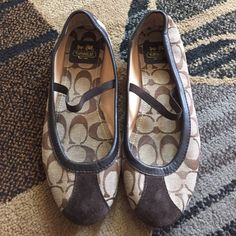 Coach Judey Flats Worn twice. Brown without box Coach Shoes Flats & Loafers