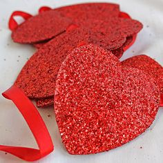 Paper Heart Garland in Red | Wedding Decorations $7.49 Afloral.com
