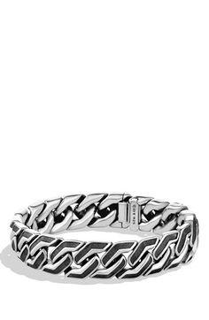 Men's David Yurman Curb Chain Bracelet - Silver