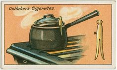 How to keep saucepan lids raised. From New York Public Library Digital Collections.