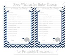 Navy Blue Chevron  Baby Elephant Wishes for Baby Sheets