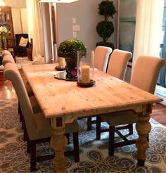 Bring The Feel Of Nature Into Your Dining Room With A Natural Finished Solid  Wood Table