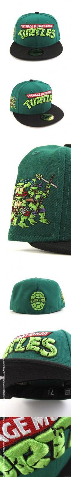 bdbab8481c7 Teenage Mutant Ninja Turtles New Era Fitted Hats (GREEN BLACK) – Custom  Fitteds