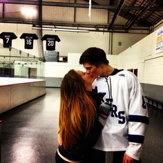 hockey kiss
