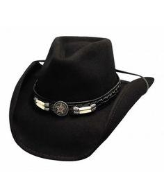 9be9309b0e7008 Skynard Black Wool Cowboy Hat. Mens Cowboy Hats, Cowgirl Hats, Black Cowboy  Hat