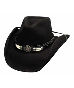 Skynard Black Wool Cowboy Hat.