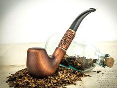 """Pipa que fuma """"Dobló"""" """". Pipa de madera tallada. Pipas de tabaco. Pipa de…"""