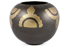 Deco Motif Brass Vase on OneKingsLane.com