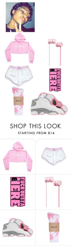 """Chillin style"" by verified-baddie ❤ liked on Polyvore featuring Beats by Dr. Dre, Retrò, HUF, men's fashion and menswear"