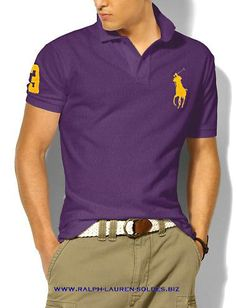 Ralph Lauren Men s Classic Short Sleeve Polo Shirt in Black Color with  White Big Pony 4a8d30b4b036