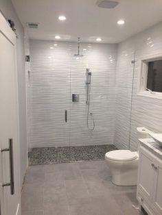 wave tile bathroom waves ceramic wall 8 x in the shop design remodel tub shower washroom tiles White Tile Shower, White Bathroom Tiles, Bathroom Tile Designs, Bathroom Layout, Modern Bathroom Design, Bathroom Interior Design, Small Bathroom, Ceramic Tile Bathrooms, Ceramic Wall Tiles