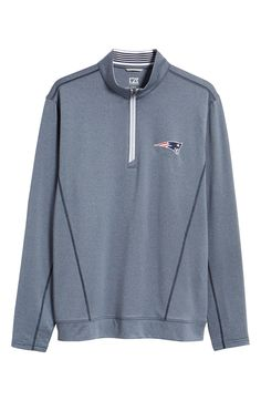 cc8ca07c9e3 Cutter   Buck Endurance New England Patriots Regular Fit Pullover - Liberty  Navy Heather