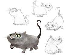 позы котов для рисования - Поиск в Google