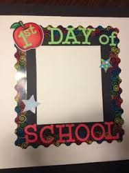I take a picture of my kids using the First Day of School frame and they put the pictures in their time capsules. A fun way to start up the school year! First Day At School Frame, 1st Day Of School Pictures, Back To School Teacher, Beginning Of The School Year, School Photos, School Picture Frames, Photo Booth Background, Background Images, Photo Frame Prop