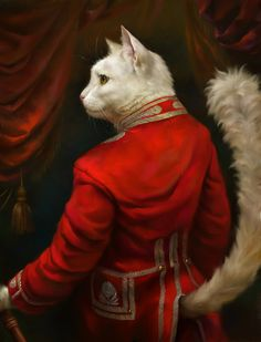 Courtly cats — Portraits of cats in the style of classical oil paintings [6 pictures]