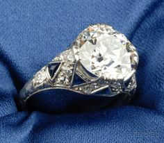 Art Deco Platinum and Diamond Solitaire | Sale Number 2375, Lot Number 641 | Skinner Auctioneers
