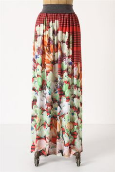 Anthropologie Blanched Crocus Maxi Skirt