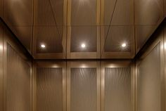 Elevator Ceiling in Stainless Steel with Mirror finish shown in CabForms 2000-N Elevator Interior at 1603 Orrington Avenue, Evanston, Illinois