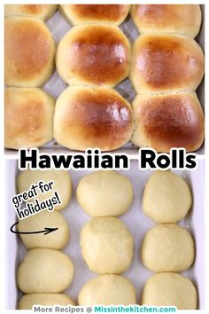 Homemade sweet Hawaiian Rolls are a great addition to any meal and are sure to be a family favorite. Once you try the homemade version, you might never go back to store bought! Homemade Dinner Rolls, Dinner Rolls Recipe, Yummy Drinks, Yummy Food, Sweet Dinner Rolls, Cooking Recipes, Bread Recipes, Scone Recipes, Yummy Recipes