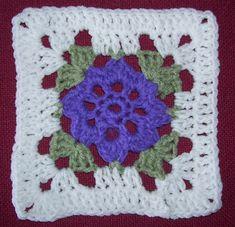 Little Flower Square... Free pattern!
