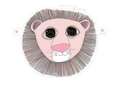 Love these free printable masks! Choose from lion, owl or elephant.