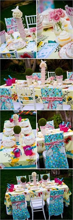 alice in wonderland theme, perfect idea for Lily's one year birthday party!