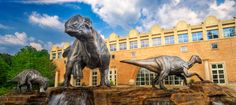 Dinosaur Plaza, part of the Fernbank Museum of Natural History in Atlanta,  includes a variety of features, including a pedestrian-friendly outdoor gathering space with plants, trees and flowers; a welcoming atmosphere for education, enjoyment and relaxation.
