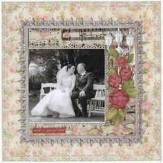 Such a Special Time - Scrapbook.com  This wedding layout was made with some punches from Martha Stewart Crafts.