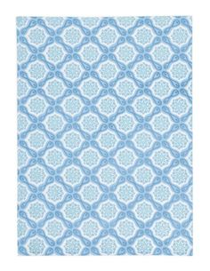Amazon.com - Kate Spain Cuzco Floral Kitchen Towel, Blue