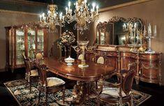 Итальянская столовая в стиле барокко #мебель