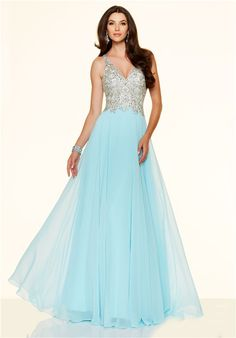 Pretty Mermaid Sweetheart Long Light Blue Tulle Beaded Evening ...