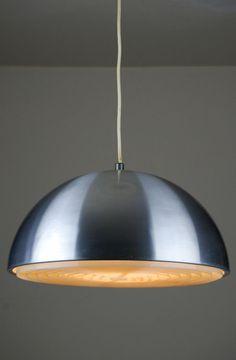 Vintage 1950s Glass Amp Teak Ceiling Lamp Mid Century Danish