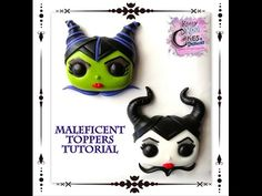 How To Make Maleficent Toppers For Cakes and Cupcakes - YouTube