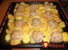 Rýchle, jednoduché a vynikajúce jedlo pre celú rodinu, ktoré pripravíte pohodlne na jednom plechu. Chicken, Vegetables, Ethnic Recipes, Food Food, Vegetable Recipes, Veggies, Cubs