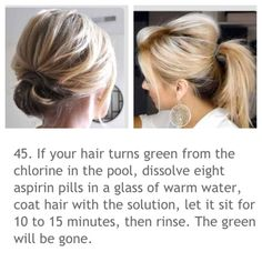 BLONDES!! No more green hair from chlorine!!!