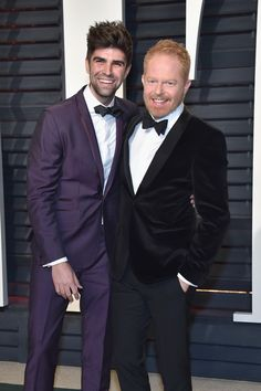 Justin Mikita (L) and actor Jesse Tyler Ferguson attend the 2017 Vanity Fair Oscar Party hosted by Graydon Carter at Wallis Annenberg Center for the Performing Arts on February 26, 2017 in Beverly Hills, California.