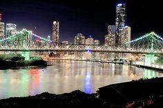 City lights from Newfarm, Brisbane,Queensland.