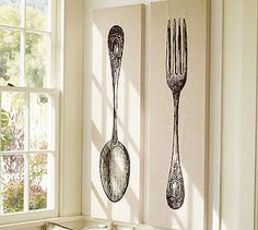 Pottery Barn knock-off spoon & fork wall art