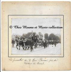 HENRI POINCARE - FUNERAILLES 20 JUILLET 1912 - CORTEGE - PHOTO 15 X 11 CM