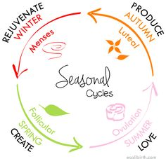 Schedule around the seasons of your cycle.